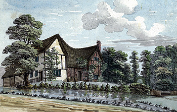 The Vicarage in the early 19th century [X254/88/109a]